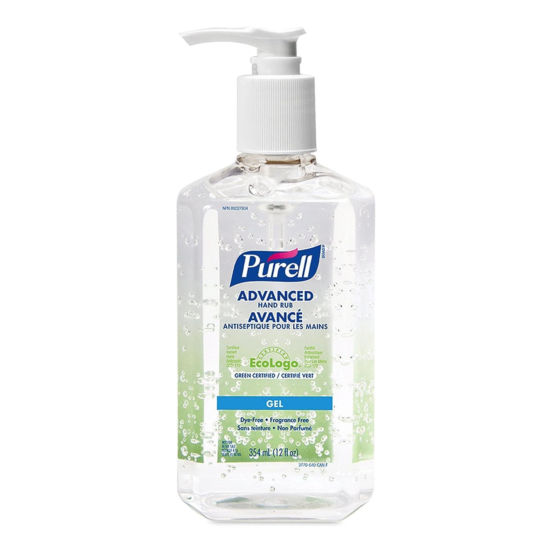 Purell 3770-12-can00 Advanced Hand Rub, 12 Fl Oz Pump Bottle, 12-Pack GOJO / Purell CA