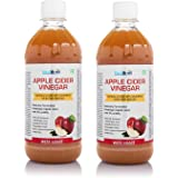 Healthvit Apple Cider Vinegar 500ml - With Mother Vinegar- Pack of 2