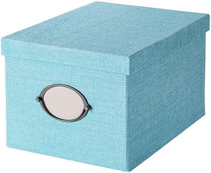 IKEA ASIA KVARNVIK - Caja de almacenaje con tapa, color azul: Amazon.es: Hogar