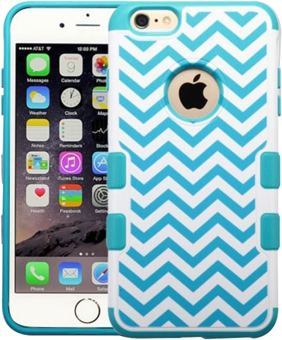 MyBat APPLE iPhone 6 Plus TUFF Merge Hybrid Protector Cover - Retail Packaging - Blue/Teal