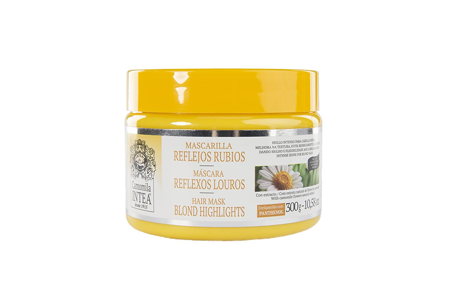 Camomile Intea Blonde Highlights Hair Mask 250g - Moisturising Blonde Hair Mask For Conditioning Dry Damaged Bleached Blonde Hair Camomila Intea 8410895100303