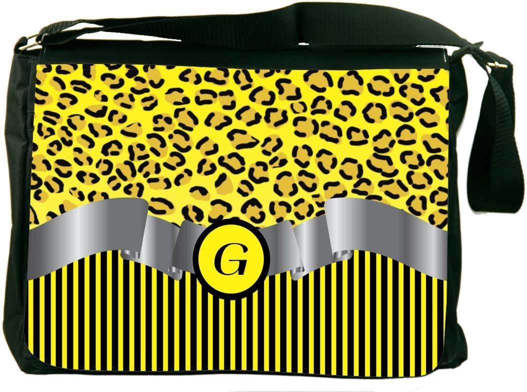 Leopard Skin Pattern Laptop Messenger Bag