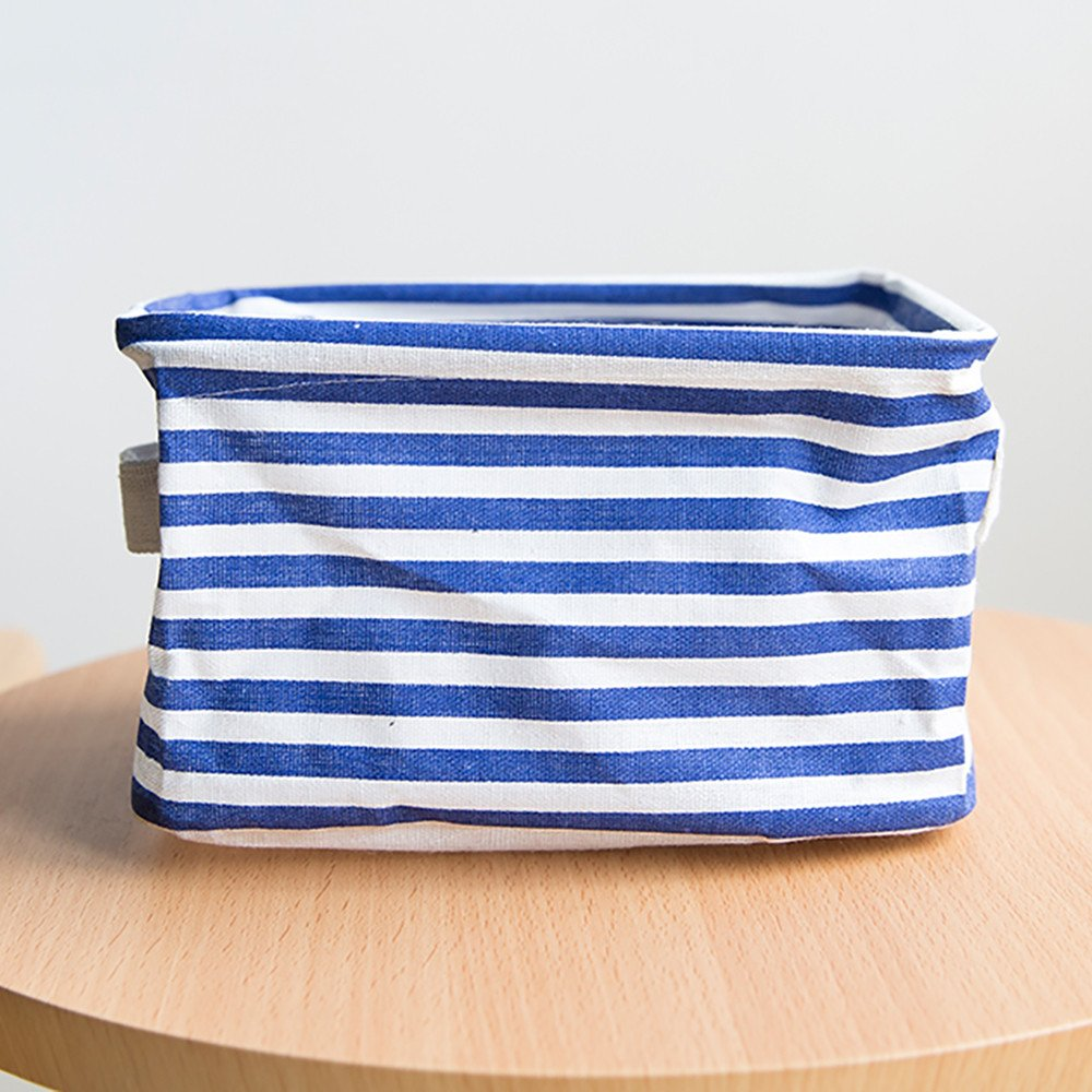 DATEWORK Foldable Colors Storage Bin Closet Toy Box Container Organizer Fabric Basket