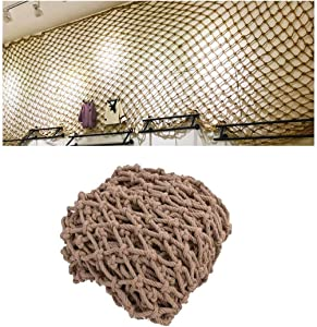 Hemp Rope Net, Protective Netting, Protection Fence Decor Nets, Child Safety Stair Balcony Anti-Fall Netting, Handwoven Resistant Hemp Rope Garden Netting