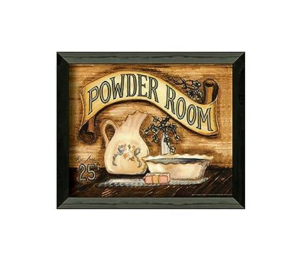 Amazon.com: Timeless Frames Powder Room Framed Art: Vintage Powder ...