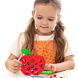 Playahoy Apple Lacing Threading Toy Fun Learning