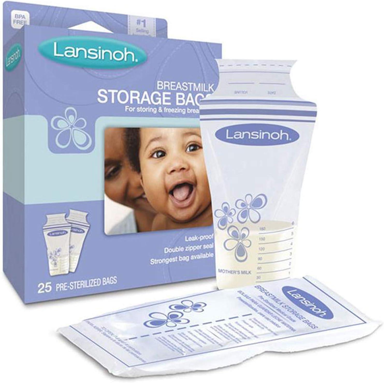 Lansinoh Breastmilk Storage Bags 25 Each ( Pack of 3)