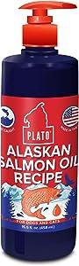 Plato Wild Alaskan Salmon Oil Topper, Give Your Dog's Kibble a Boost