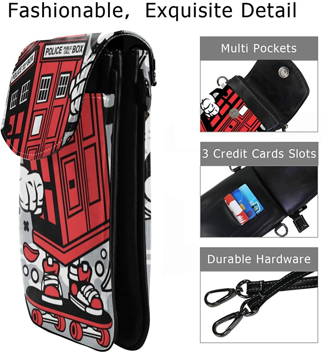 Suminla Home Police Box Skater Cartoon Bolso bandolera
