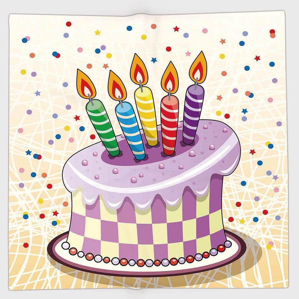 Fabulous Cotton Microfiber Hand Towel Birthday Decorations Creamy Cake Funny Birthday Cards Online Amentibdeldamsfinfo