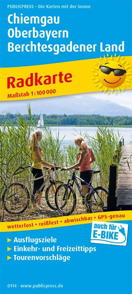 Chiemgau - Oberbayern - Berchtesgadener Land: Radkarte mit Ausflugszielen Einkehr- & Freizeittipps wetterfest reißfest abwischbar GPS-genau. 1:100000 (Radkarte / RK)