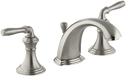 KOHLER K 394 4 BN Devonshire Widespread Lavatory Faucet, Vibrant Brushed  Nickel