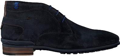 FLORIS VAN BOMMEL Casual suede dark blue