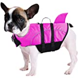 Queenmore Ripstop Dog Life Jacket Shark Life Vest for Dogs, Safety Lifesaver with High Buoyancy and Lift Handle for Small and