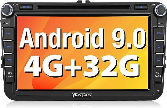 Pumpkin Android 9.0 Radio para VW con DVD, Autoradio 2 DIN GPS de ...