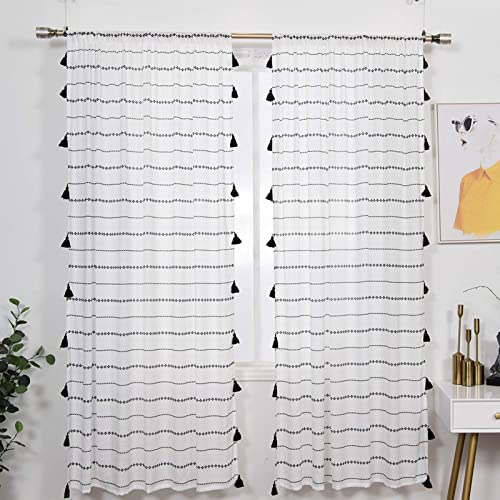YoKii Boho Sheer Curtain