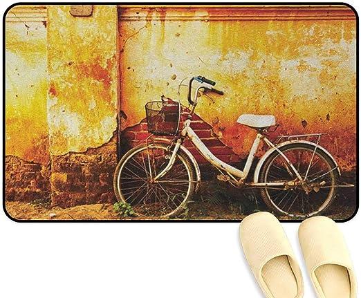 homecoco Tapete de pie Antideslizante para Bicicleta, diseño ...