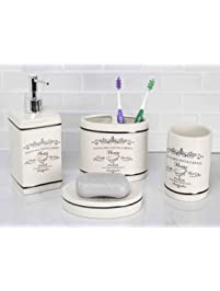 Delightful Paris Collection 4 Piece Bathroom Accessory Set