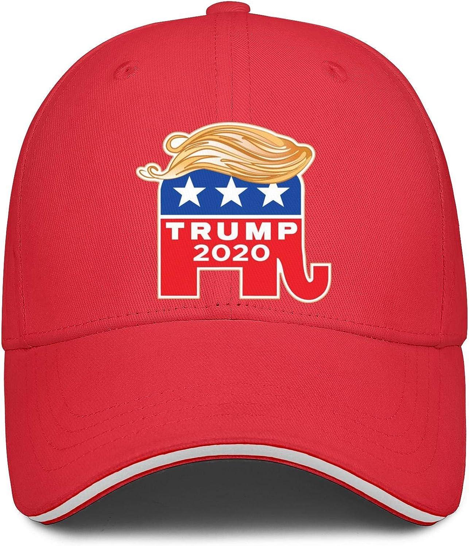ahtbht Trump 2020 Star Elephant Snapback Hats Hip Hop Soft Youth Baseball Cap Designed