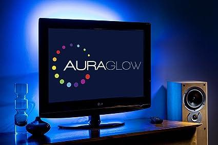 Auraglow kit strip led usb retroilluminazione tv cambia colore