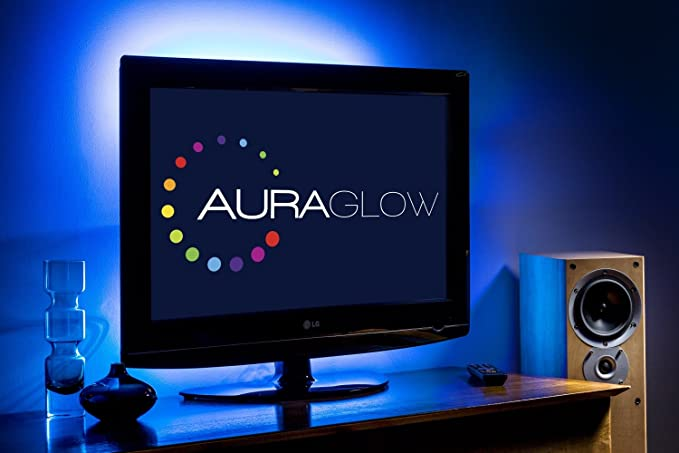 Auraglow kit strip led usb retroilluminazione tv cambia colore