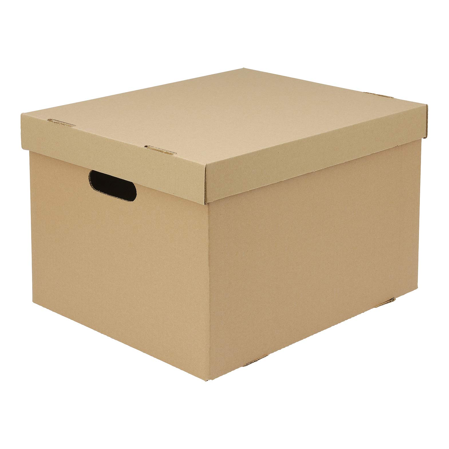 large cardboard boxes with lids