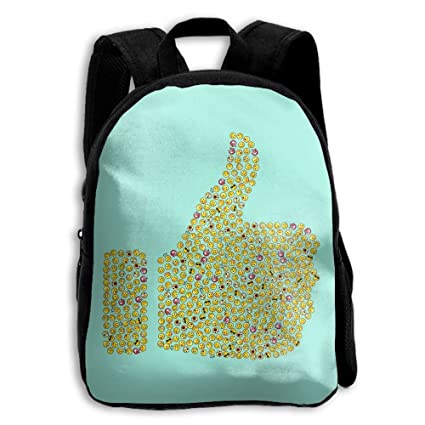 SARA NELL - Mochila Escolar para Niños con Diseño de emoticonos para Preescolar, Jardín,