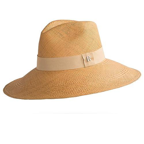 RACEU ATELIER Sombrero Panamá Ala Ancha Eva Miel - Sombrero de Paja Estilo  Fedora - Sombreros 019602805dd