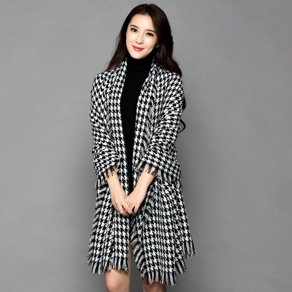 Bufanda HAIZHEN Elegante de moda Mujer gruesas otoño e invierno Inglaterra Shawl Cloak Suave y cálido