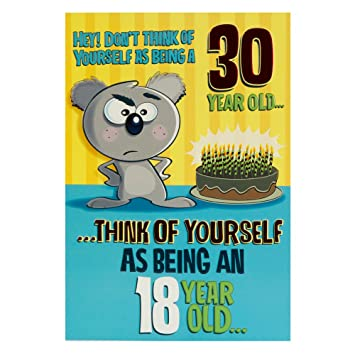 Hallmark 30th Birthday Card 18 With 12 Years Experience Medium
