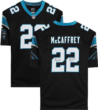 Christian McCaffrey Carolina Panthers Autographed Black Nike Game ...