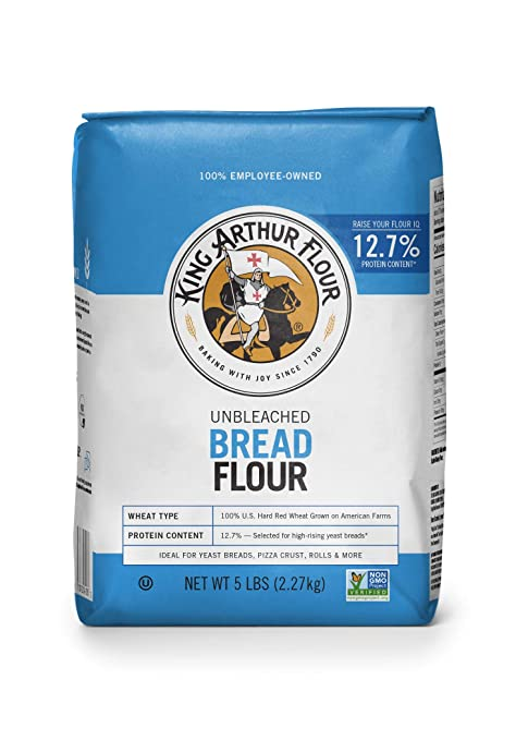King Arthur Flour Unbleached Bread Flour, 5 Pound (Packaging May Vary)
