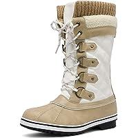 Botas de Combate Mujer Botas Mujer Invierno Forradas C/álidas Botines Ante Plataforma Zapatos Nieve C/ómodos Casual