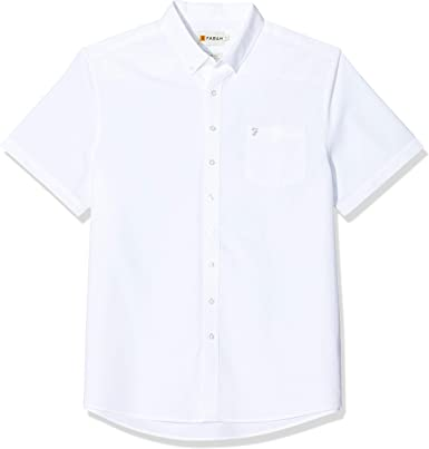 Farah - Camisa Casual - para Hombre Blanco Blanco XXL (Pecho 132 cm- 137 cm): Amazon.es: Ropa y accesorios