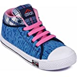 Asian shoes RACER-81 Blue Canvas Womens Shoes