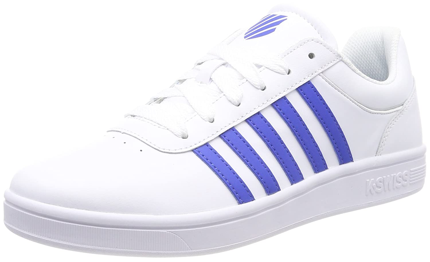 K-Swiss Court Cheswick, Zapatillas para Hombre 46 EU|Blanco (White/Strong Blue 122)
