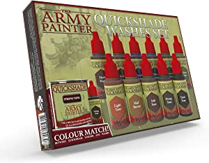 The Army Painter Warpaints Quickshade Wash Set - Miniature Painting Kit of 11 Dropper Bottles with Fluid Acrylic Paint Color Washes