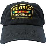 3682451babd Rob sTees Retired Drug Dealer Black Meme Unstructured Twill Cotton Low  Profile Dad Hat Cap