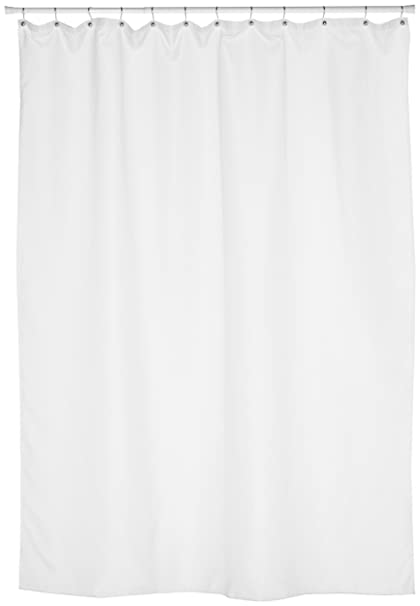 Amazon.com: Carnation Home Fashions Fabric Extra Long Shower Curtain ...