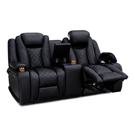 Astounding Seatcraft Europa Home Theater Seating Double Recliner Loveseat Leather Gel Power Recline Adjustable Powered Headrests Storage Console Usb Creativecarmelina Interior Chair Design Creativecarmelinacom