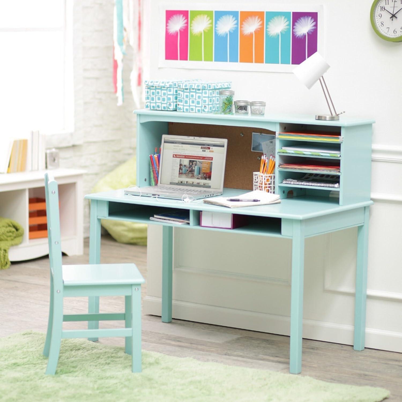 Amazon Guidecraft Media Desk & Chair Set Teal Kitchen & Dining