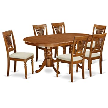 Cool East West Furniture Plai7 Sbr C 7 Pc Dining Room Set For 6 Dining Table With 6 Dining Chairs Gmtry Best Dining Table And Chair Ideas Images Gmtryco