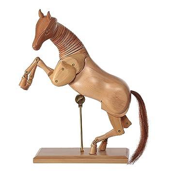 Cheval en bois 30cm modèle de dessin figurine pour dessin espace beaux arts