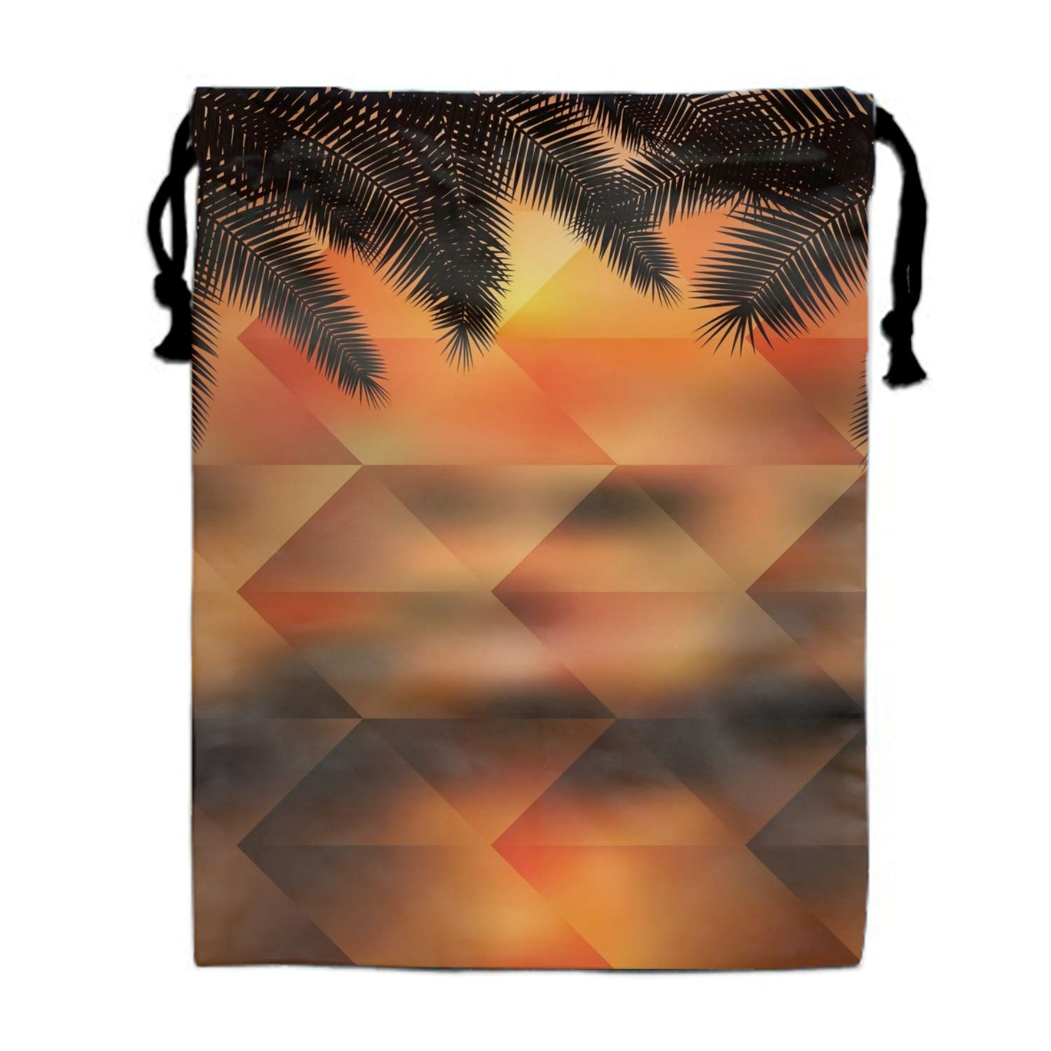 Palmtree Geometric Drawstring Bags Waterproof Party Favors Pouch Tote Bag Sack For Girls Boys