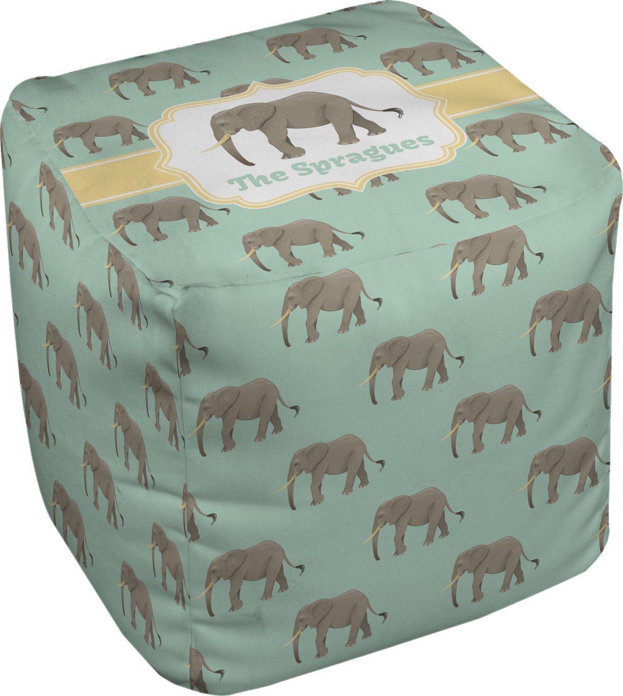 RNK Shops Elephant Cube Pouf Ottoman - 13'' (Personalized)