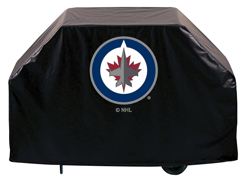 Winnipeg Jets HBSブラックアウトドアHeavy Duty通気性ビニールBBQグリルカバー B01ETT0T30   60\