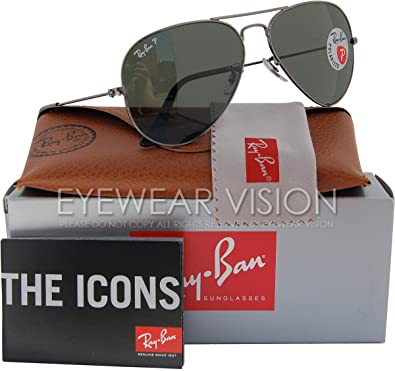 9236f6d351 Image Unavailable. Image not available for. Color  Ray-Ban RB3025 Aviator  Polarized Sunglasses 004 58 ...