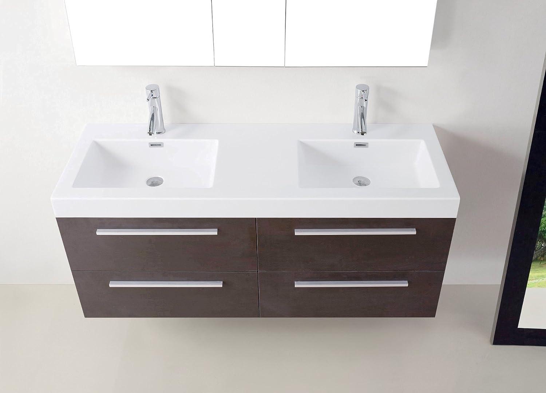 Virtu Usa Jd 50754 Wg Finley 54 Double Bathroom Vanity With White