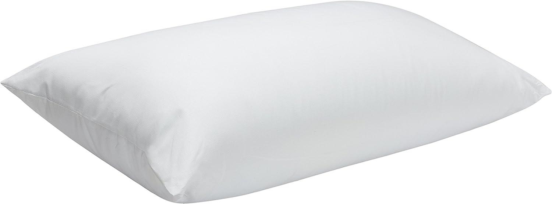 Pikolin Home - Almohada de fibra, antiácaros, funda con cremallera 100% algodón, firmeza media-alta, 40x75cm, altura 20cm (Todas las medidas)