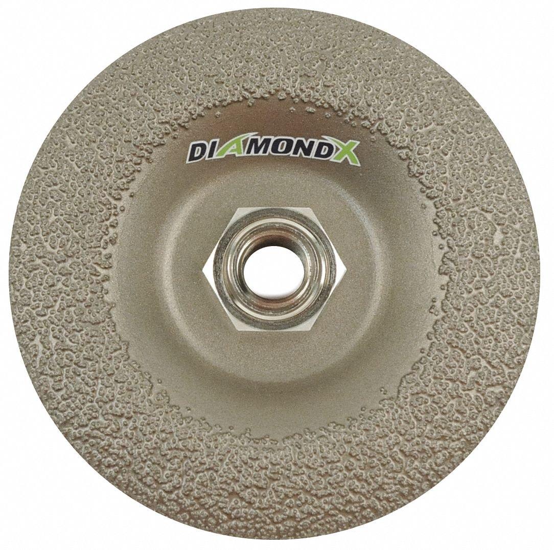 5'' Type 27 Diamond Depressed Center Wheels, 5/8'' Arbor, 5/32''-Thick, 12,225 Max. RPM